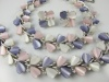 LISNER pink purple white heart thermoset parure vintage 1960s