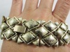 Coro Pegasus wide brushed gold vintage bracelet