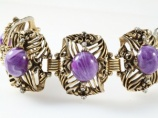 Huge chunky purple vintage bracelet by SELRO