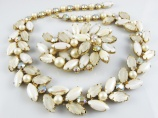 Kramer of New York signed vintage necklace and brooch bride wedding jewellery