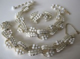 1960s vintage Jewelcraft necklace bracelet earring set parure